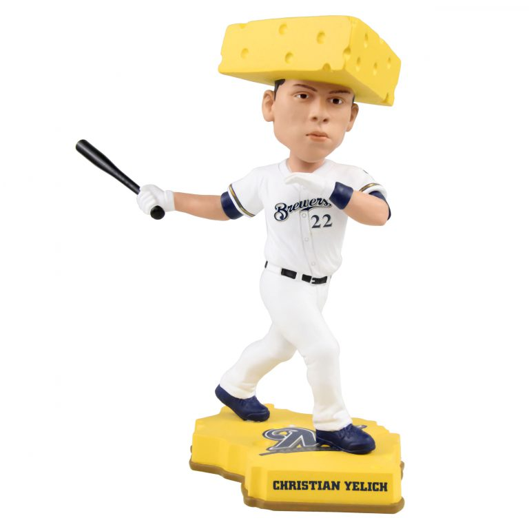 Christian Yelich bobblehead. Photo courtesy of the National Bobblehead Hall of Fame and Museum.