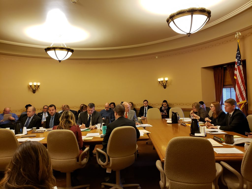 The Assembly Committee on Regulatory Licensing Reform held a public hearing Wednesday on a bill to create a new step before lawmakers could implement new occupational licenses. Photo by Erik Gunn/Wisconsin Examiner.