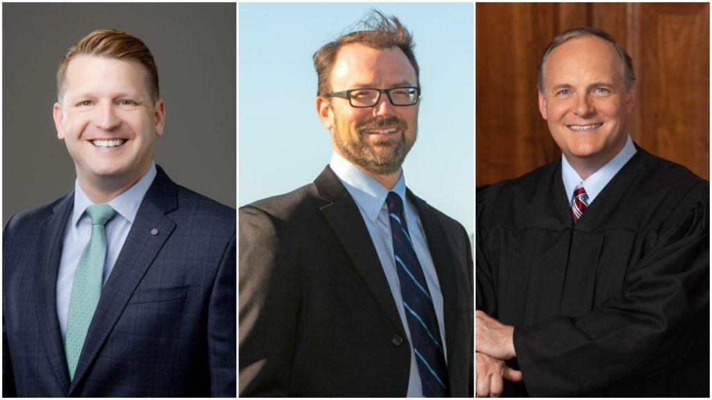 Left to Right, Brett Blomme, Zach Whitney, Hon. Paul Dedinsky.