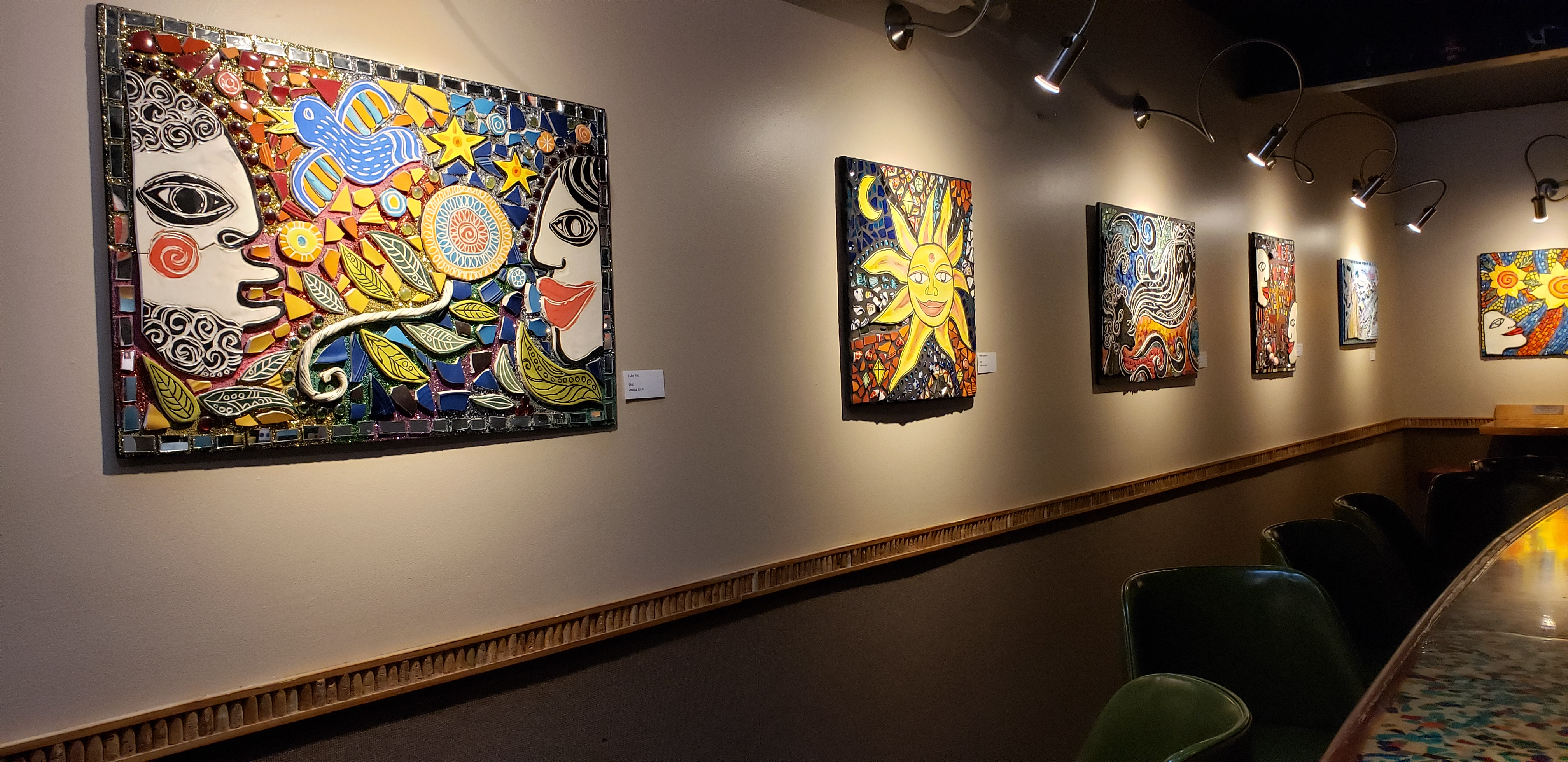 Works by Jessica Laub. Photo by Renee Bebeau.