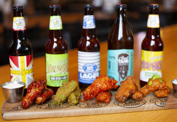Wing flight. Photo courtesy of Lakefront Brewery.