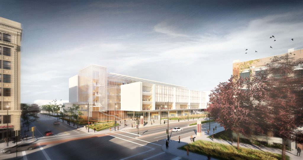 New home for Marquette Business and innovation leadership programs. Conceptual rendering courtesy of BNIM.