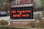 Cannabidiol oil, or CBD, was made legal in Wisconsin in 2014 for limited purposes. A subsequent state law and federal farm bill legalized hemp, from which CBD oil is derived. It's now available at gas stations, video stores and hair salons like this one on Madison's near west side. Photo by Shamane Mills/WPR.