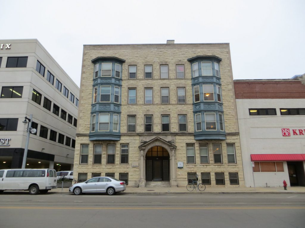 The Comstock Building, 826-828 N. Milwaukee St. Photo by Michael Horne.