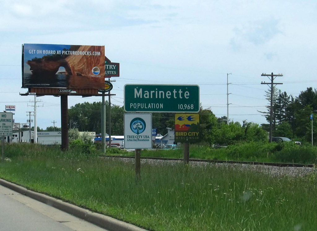 Marinette is a center of PFAS contamination in Wisconsin. Much of the contamination originates from the manufacturing of firefighting foams at the Tyco Fire Technology Center. Photo by Ken Lund (CC BY-SA 2.0). https://www.flickr.com/photos/kenlund/9181893440/ https://creativecommons.org/licenses/by-sa/2.0/