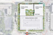27th and Wisconsin redevelopment option. Site plan by Quorum Architects.