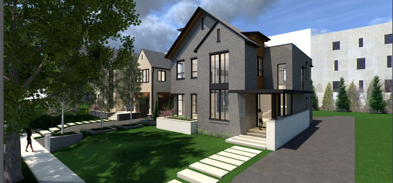 Gokhman House rendering. Rendering by Korb + Associates Architects.