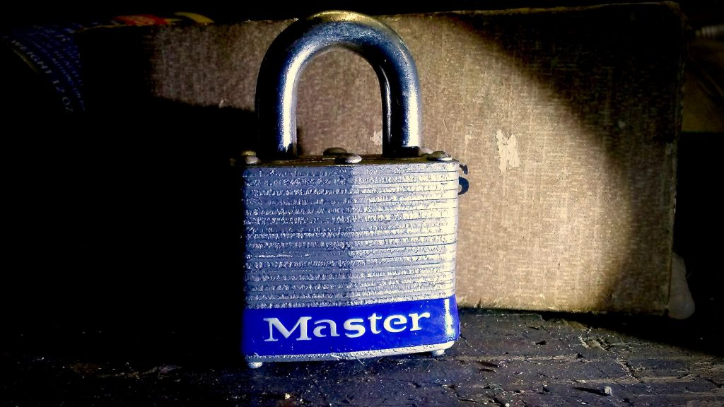 This Master Lock no. 3 padlock is made from multiple steel plates stacked and riveted together under enormous pressure, just as Harry Soref designed in 1921. Carl A. Swanson photo