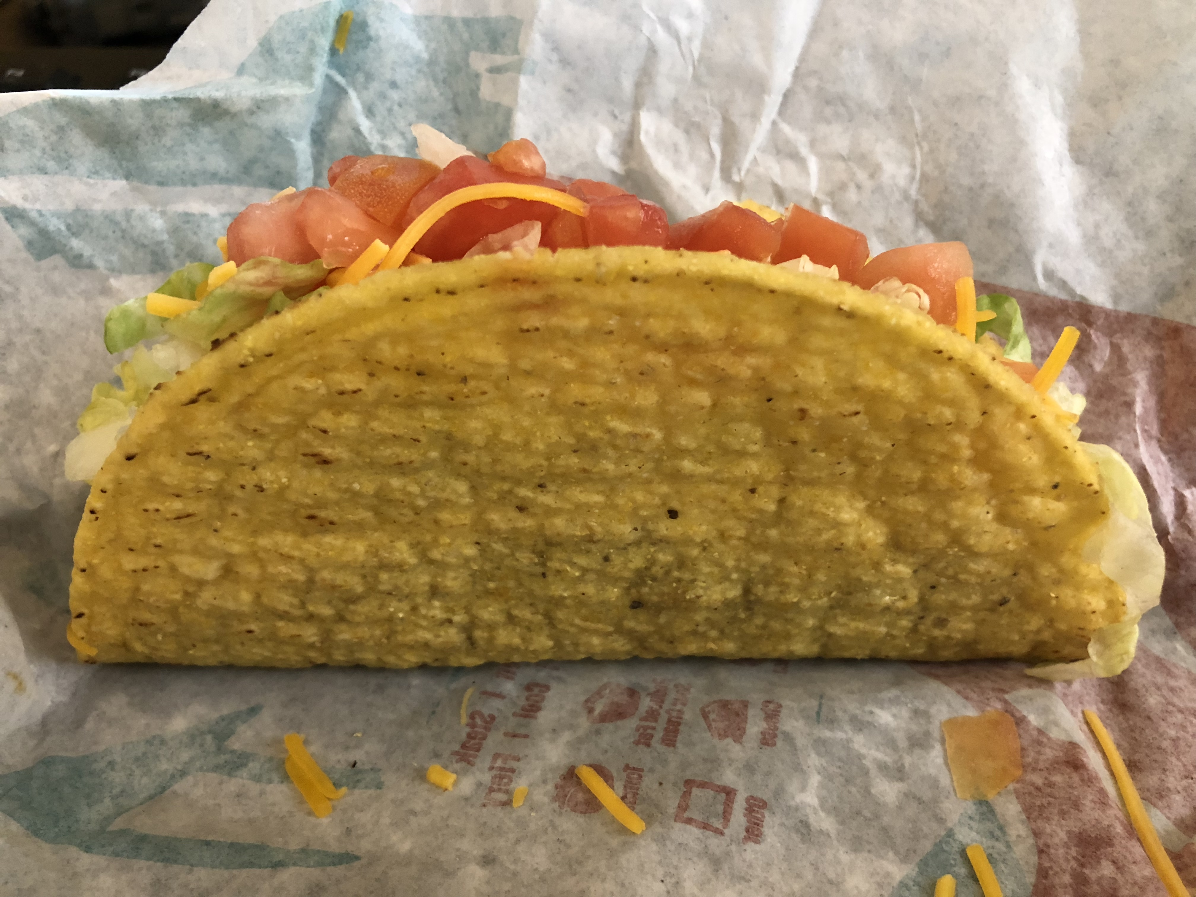 A Crunchy Taco Supreme from Taco Bell. Photo by Famartin [CC BY-SA (https://creativecommons.org/licenses/by-sa/4.0)].