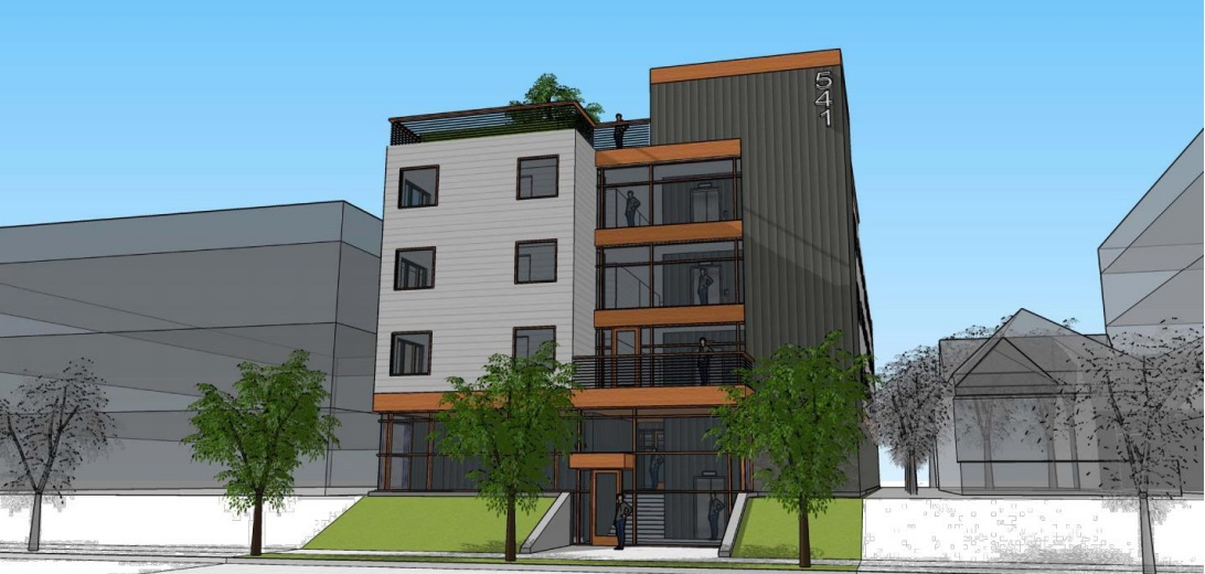 541 N. 20th St. Rendering from City of Milwaukee documents/Herro Company.