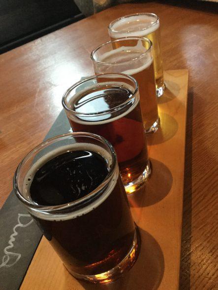 Beer flight at the Bavarian Bierhaus. Photo by Cari Taylor-Carlson.