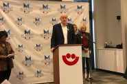 Mayor Tom Barrett announces the location of the DNC welcome party. Photo by Jeramey Jannene.