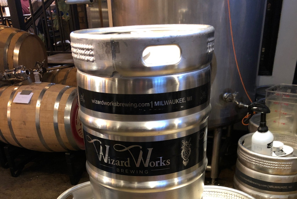 Wizard Works Keg. Photo Courtesy of Wizard Works Brewing Company.
