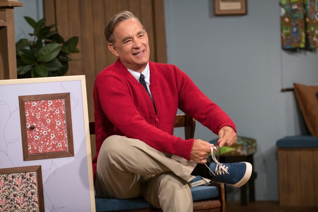 Tom Hanks stars as Mister Rogers in TriStar Pictures' A Beautiful Day in the Neighborhood. ©2019 CTMG, Inc. All rights reserved. Photo by Lacey Terrell.