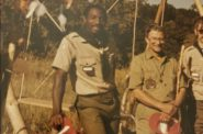 "Charles Robinson Sr. participating in Wood Badge Patrol in 1984, which included two weeks in the wilderness with few provisions. According to him, this was ""the best training I've had in life."" Photo courtesy of Charles Robinson Sr."