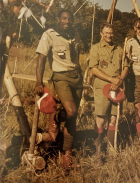 "Charles Robinson Sr. participating in Wood Badge Patrol in 1984, which included two weeks in the wilderness with few provisions. According to him, this was ""the best training I've had in life."" Photo courtesy of Charles Robinson Sr./NNS."