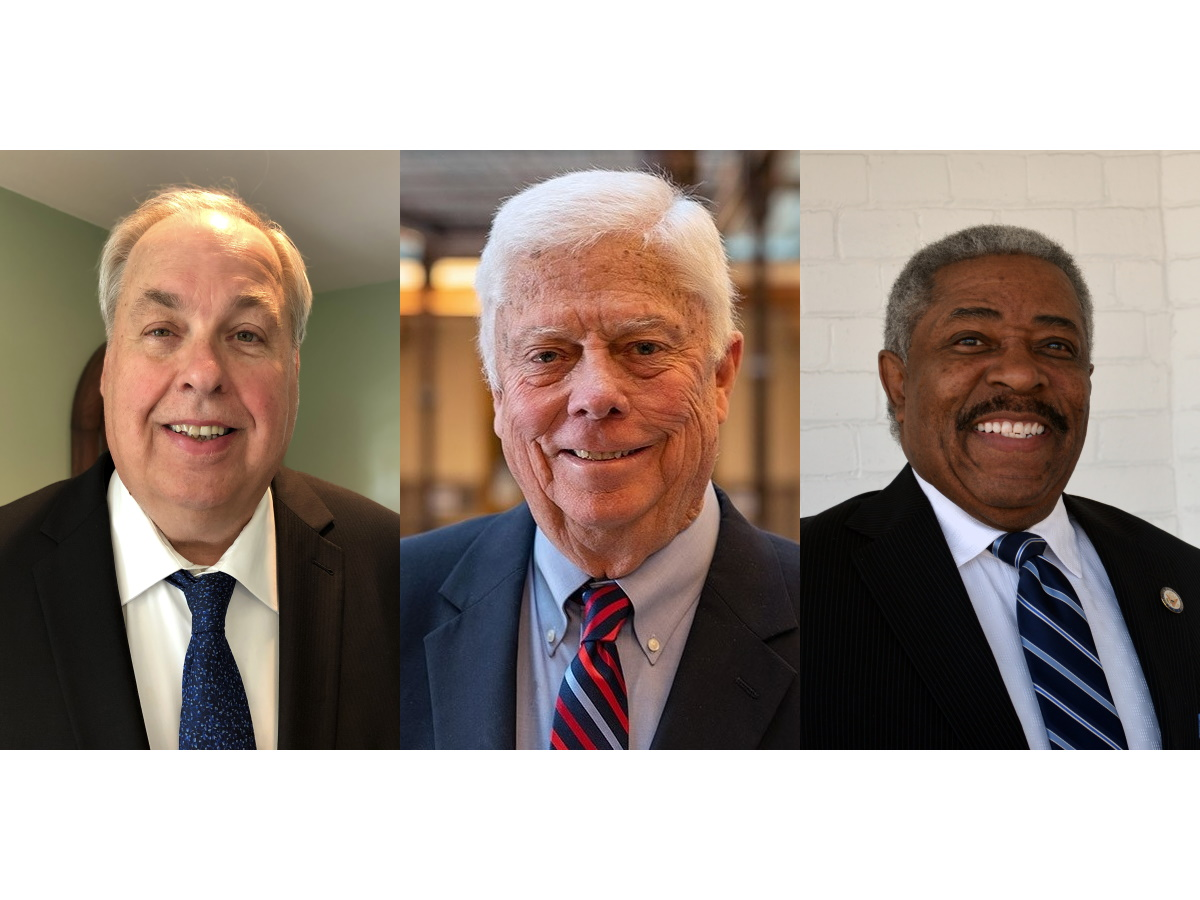 Vince Bobot, Grant Langley and Tearman Spencer. Images from the candidates.