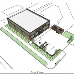Proposed building at 3530 W. Lincoln Ave. Rendering from BMR Design Group.