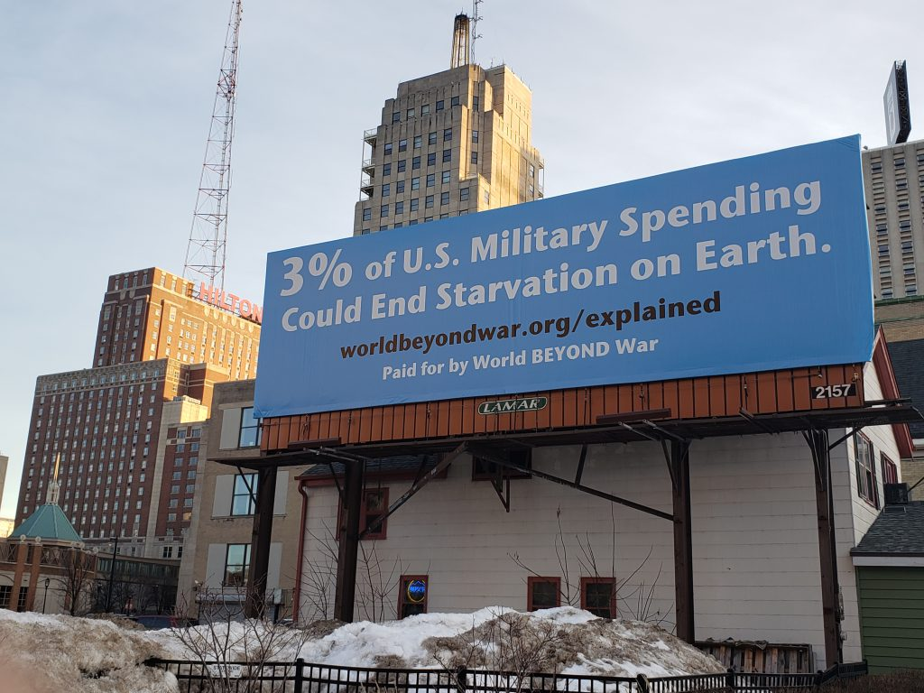 Billboard. Photo courtesy of World BEYOND War.