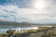 Parque Ecoógica Lago de Texcoco Rendering. Rendering by Iñaki Echeverría.
