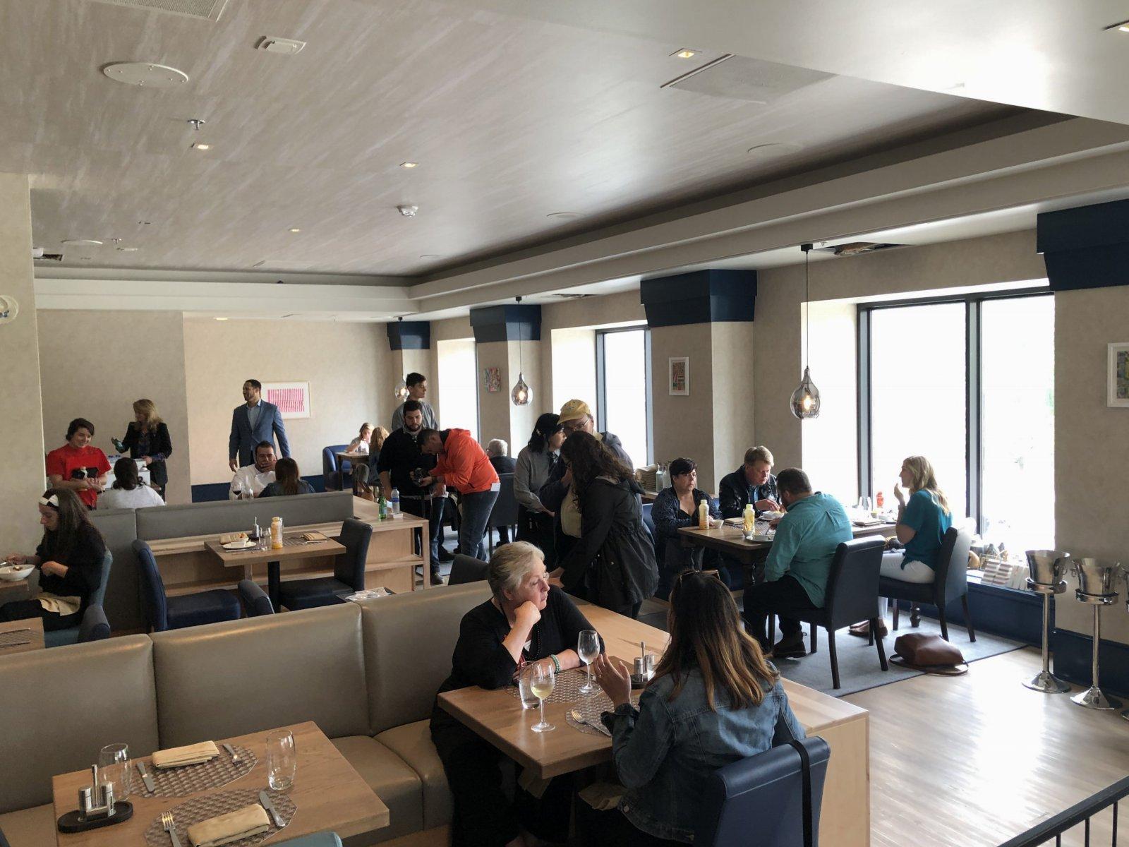 The Aria restaurant at Saint Kate hotel. Photo by Jeramey Jannene.