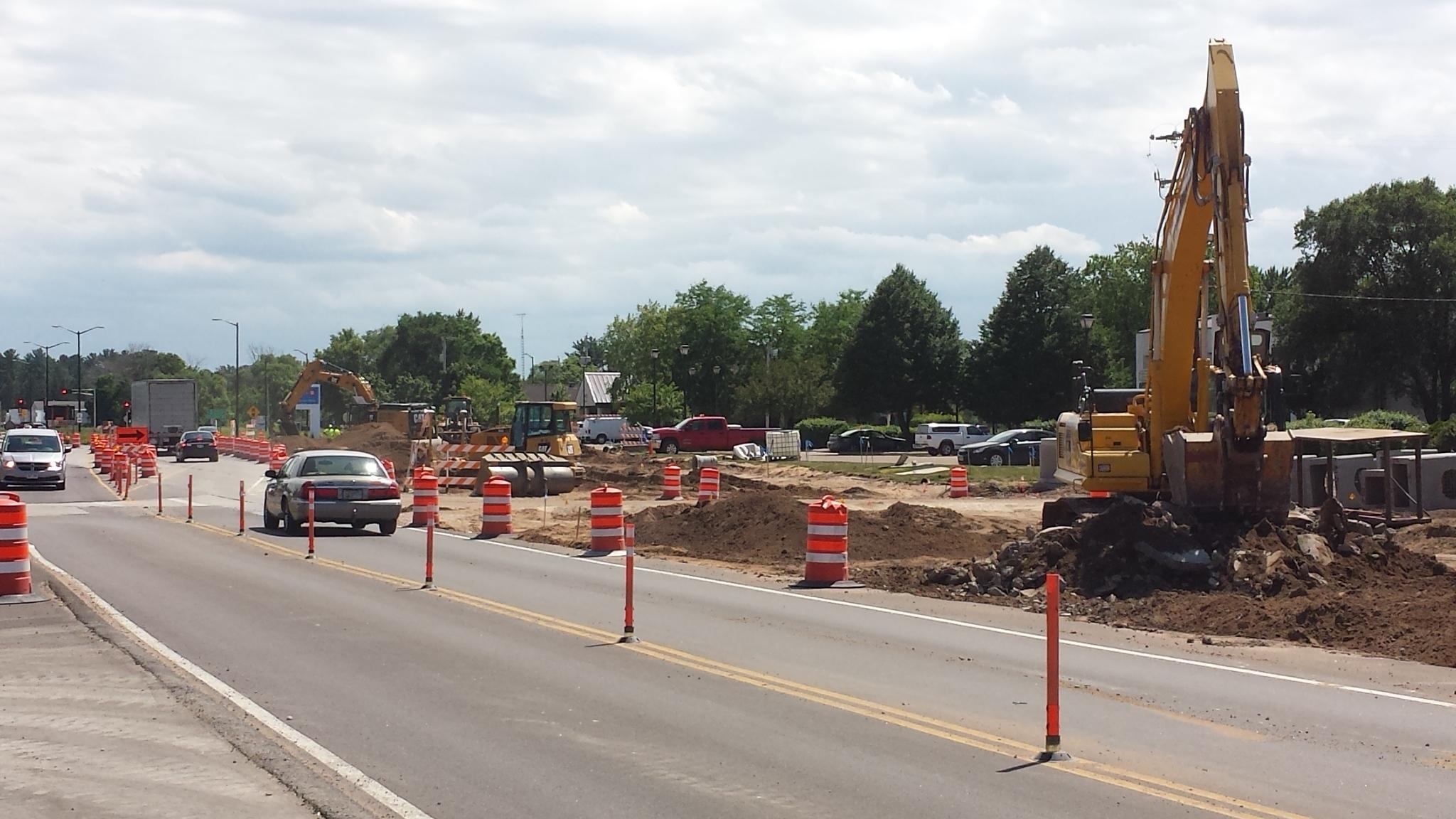 Road construction. Photo from WisDOT.