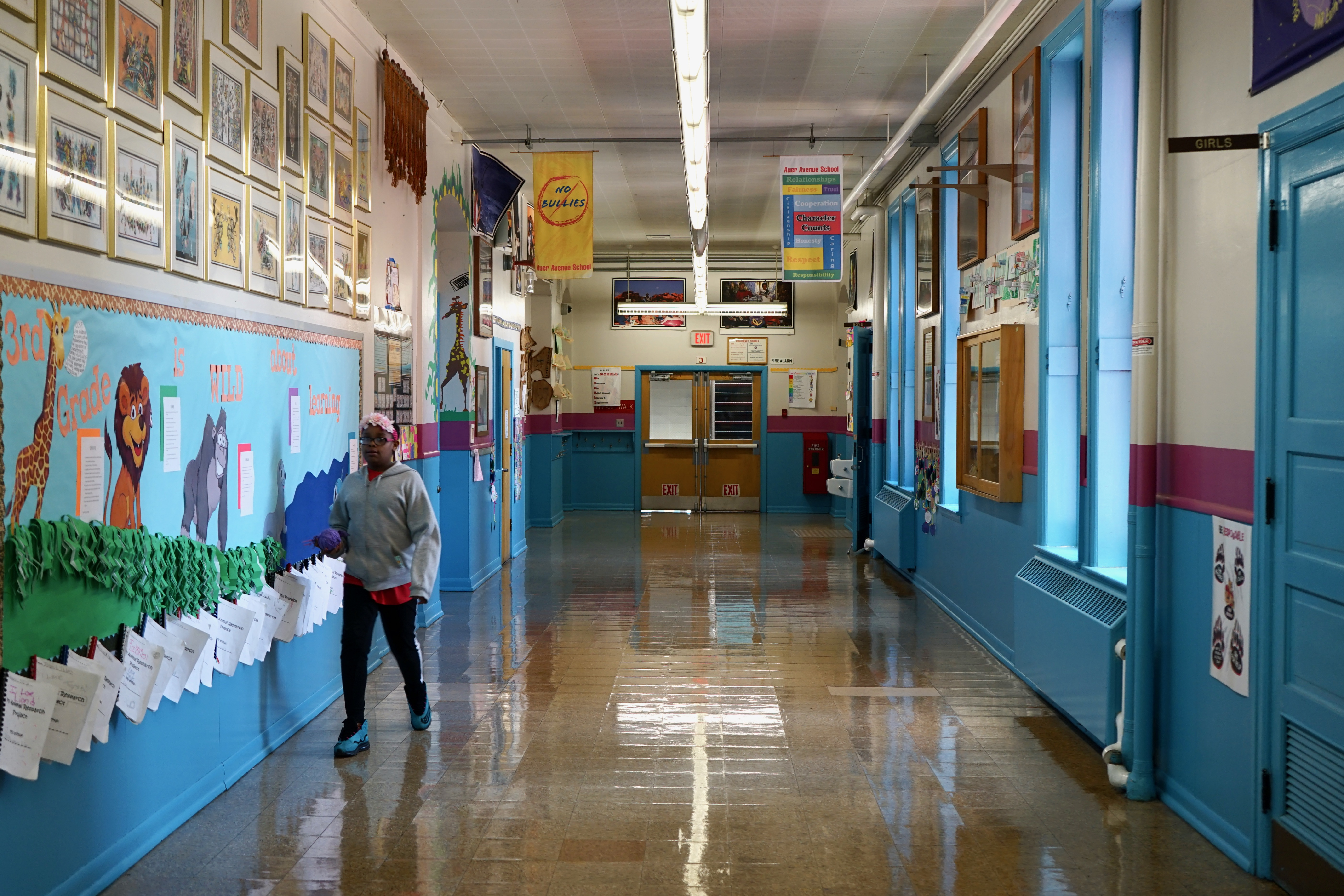 The hallways may be empty, but teachers across the city are doing their best to keep their students engaged during the COVID-19 pandemic. File photo by Adam Carr/NNS.