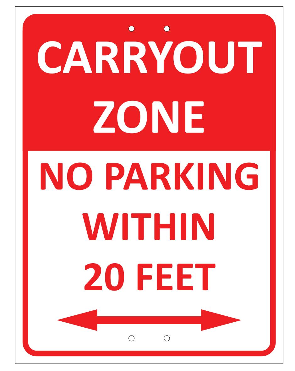 Restaurant Carryout Zones