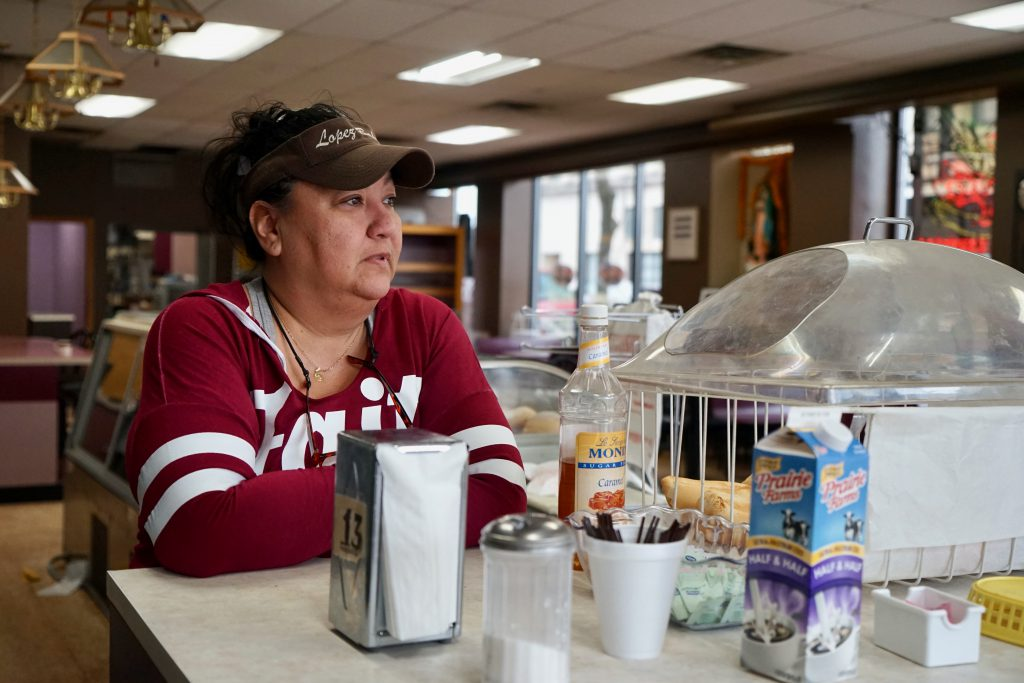 Despite offering call-in, carryout and curbside pickup, Cindy Lopez has seen her bakery's business decline dramatically. Photo by Adam Carr/NNS.