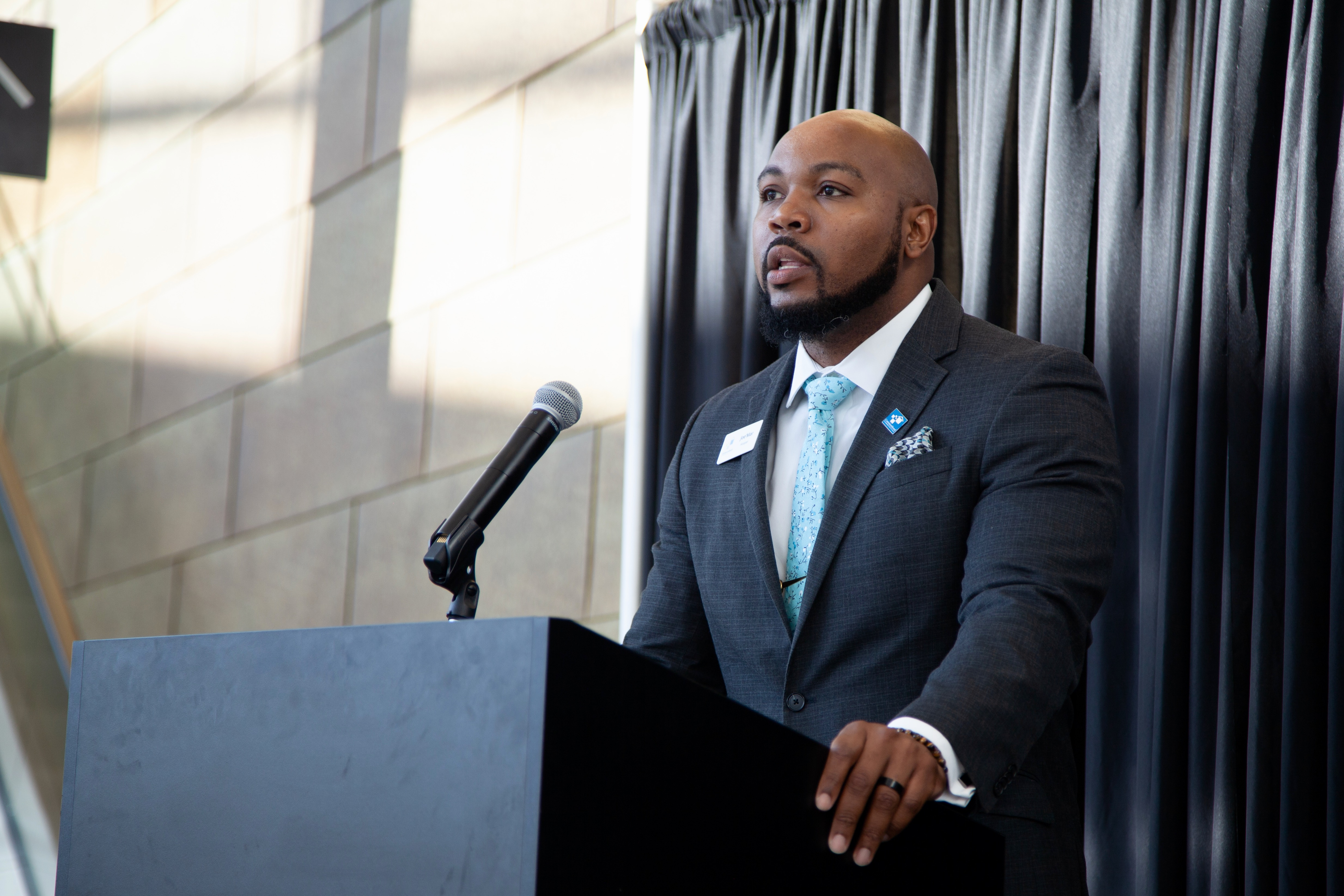 New Safe and Sound Executive Director Joe'Mar Hooper hopes to build on the organization's success and bring even more partners to the table. Photo by Edgar Mendez/NNS.