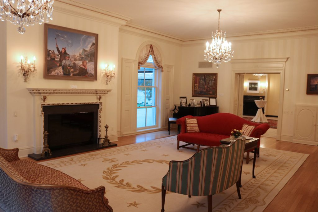"""Wishes in the Wind"" by David Lenz is displayed in the Executive Residence. Photo courtesy of MOWA."