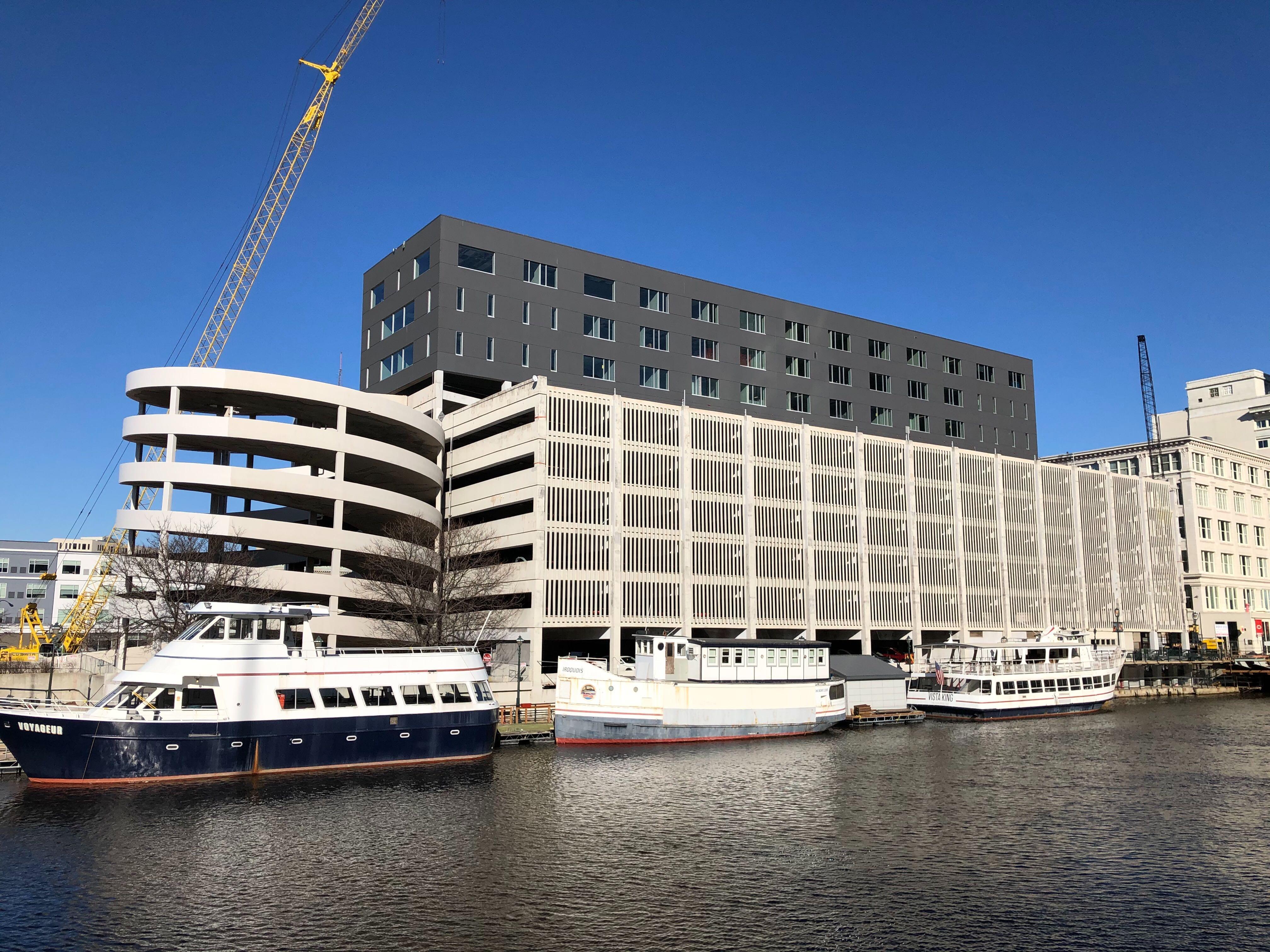 105-111 W. Michigan St. redevelopment works nears completion. Photo by Jeramey Jannene.