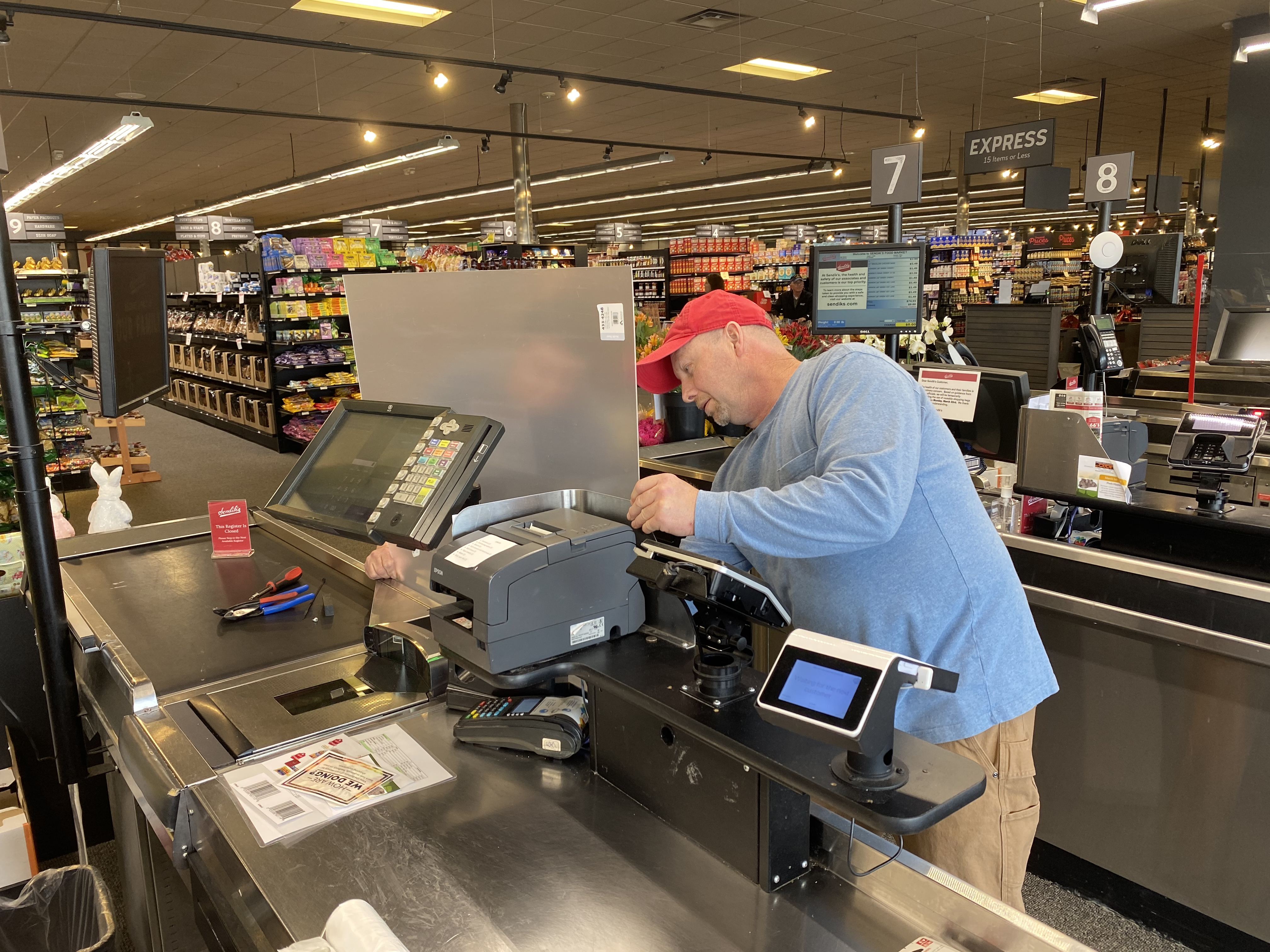 Installation Underway of Plexiglass Checkout Barriers at All Sendik's Food Market Stores