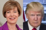 Tammy Baldwin and Donald Trump.