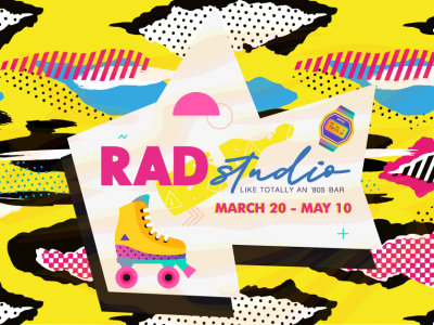 Righteous! '80s-themed Pop-Up Bar, Rad Studio, Opens March 20th