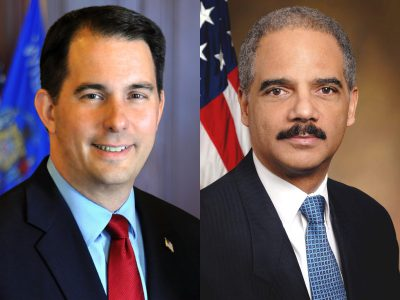 Scott Walker Battles Eric Holder
