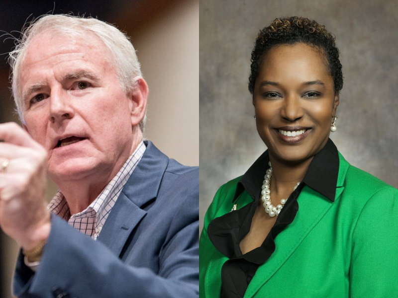 Tom Barrett and Lena Taylor. Photos from the candidate and state records.
