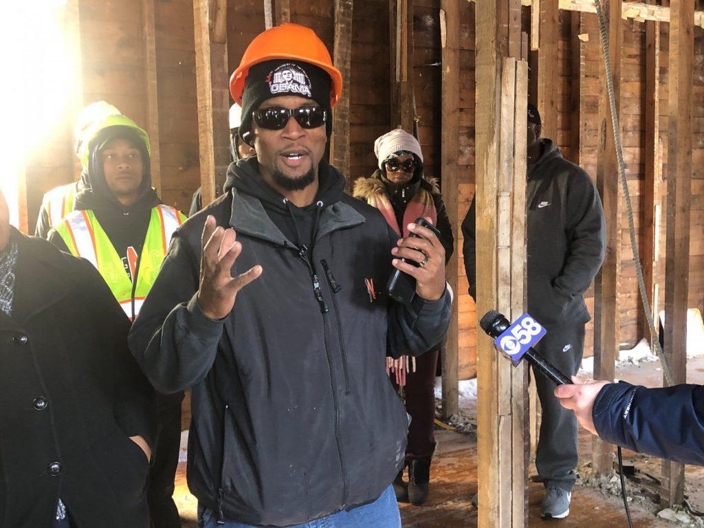 Billy Spencer speaks at a deconstruction press conference in November 2019. Photo by Jeramey Jannene.