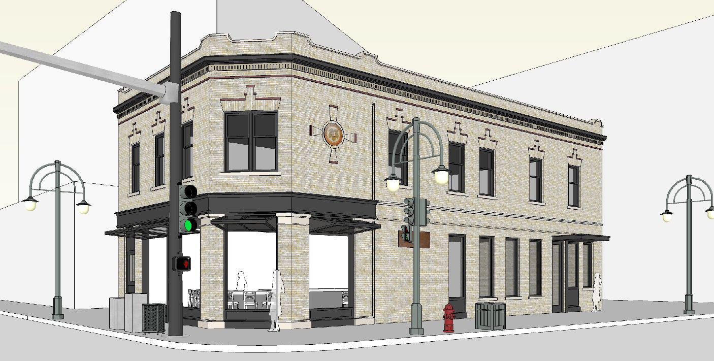 Tied House Rendering with new windows in the open position. Rendering by Vetter Architects.