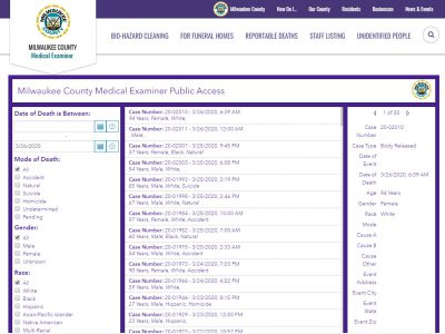 Medical Examiner Launches Public Data Portal