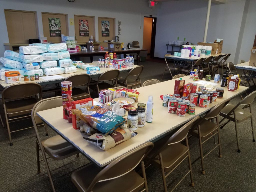 When first-grade teacher Angela Harris put out a call to help our neighbors, the community answered. Photo courtesy of Angela Harris.