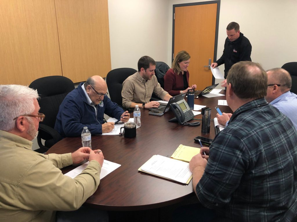 Cross-functional response team meeting. Photo courtesy of Washington County.
