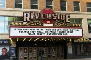 Riverside Theater marquee. Photo from the Pabst Theater Group.