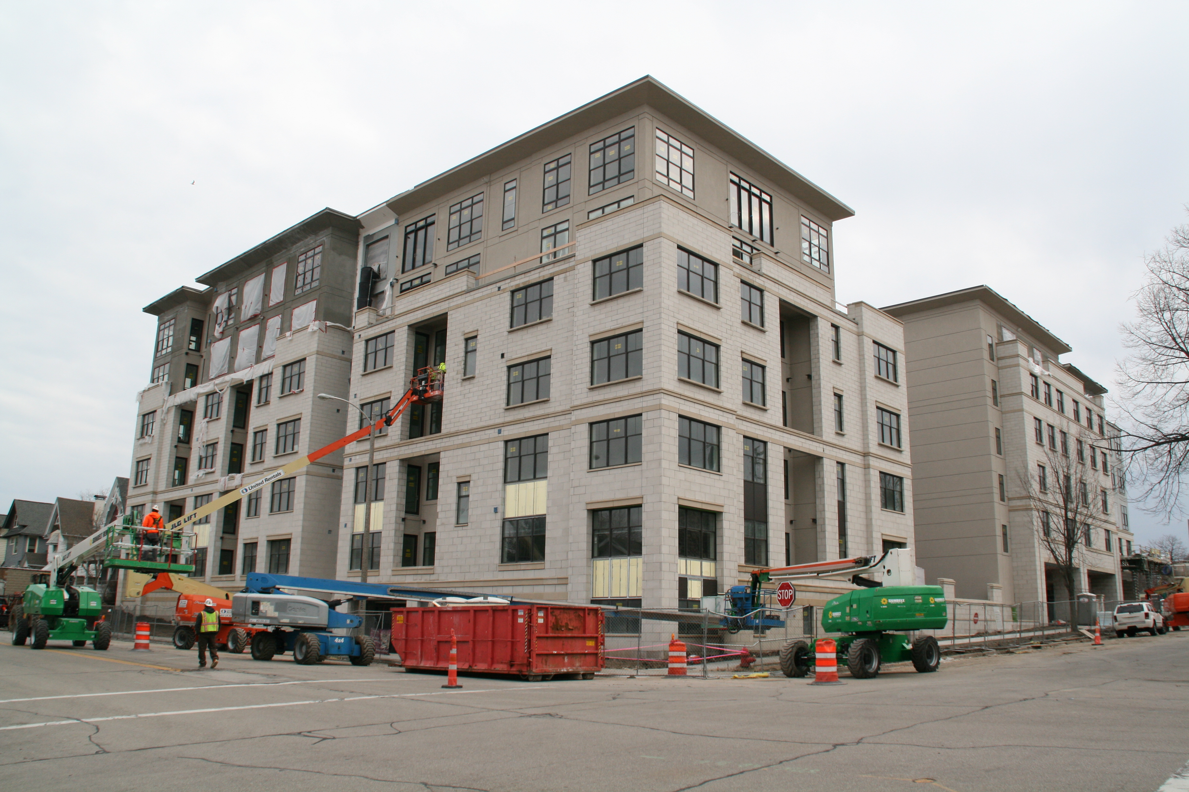 St. Rita Square complex under construction. Photo by Jeramey Jannene.