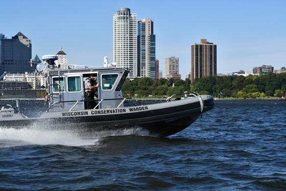 DNR Conservatin Warden patrolling Lake Michigan / Photo Credit: Wisconsin DNR