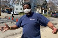 Violence interrupters from 414 Life helped distribute 1,500 masks Election Day. Photo provided by Reggie Moore, City of Milwaukee Office of Violence Prevention/NNS.