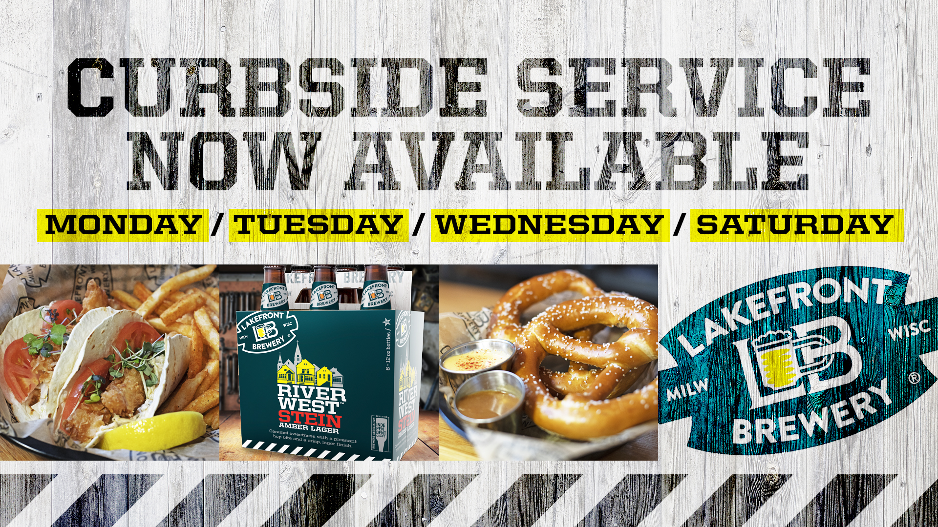 Lakefront Brewery Announces Curbside Food and Growler Day!