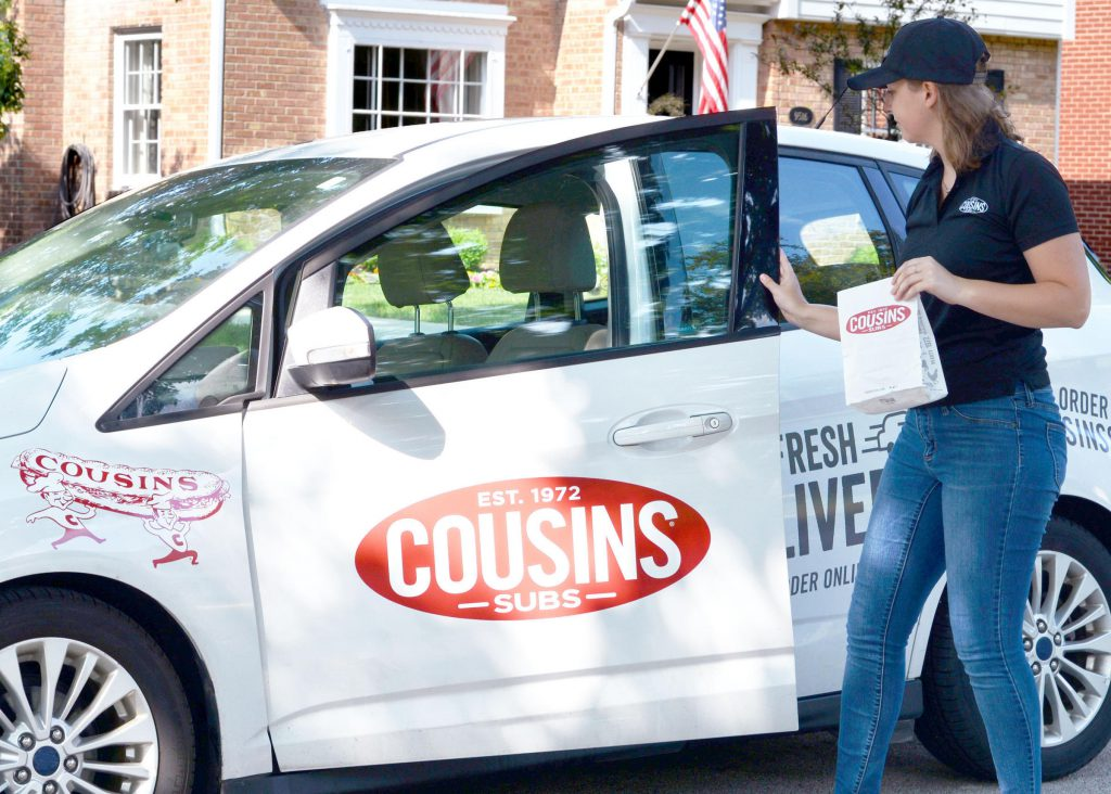 Cousins Subs delivers. Photo courtesy of Cousin Subs.