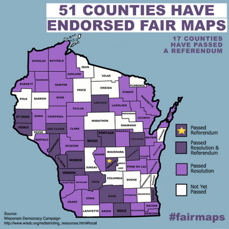51 counties have endorsed fair maps.
