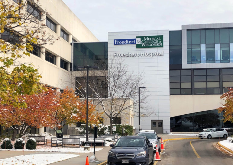 Blanche Jordan is one of at least 46 people sued by Froedtert in small claims cases since March 12. Here, Froedtert Hospital in Milwaukee is seen on Nov. 1, 2019. Photo by Corrinne Hess / WPR.